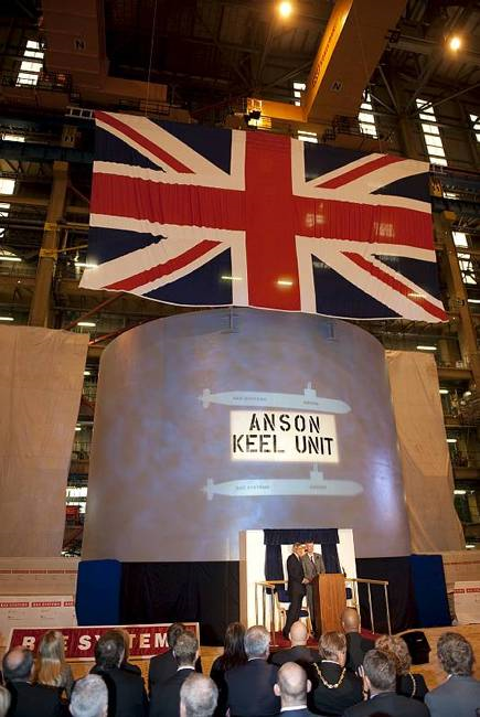 H.M. Submarine Anson Keel Laying