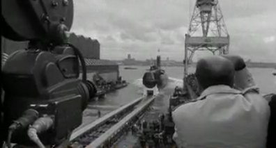 H.M. Submarine Conqueror Launch