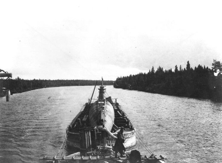 C Class Submarine being transported to the Baltic Sea