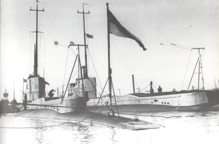 H.M. Submarines Parthian and Olympus