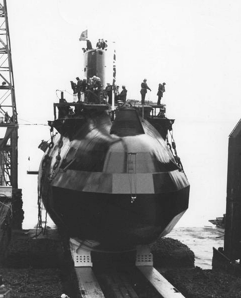 H.M. Submarine Sceptre Launch