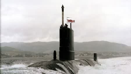 H.M. Submarine Tireless in the Clyde